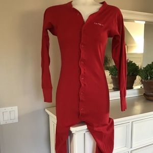 Carhartt Red One Piece Pajama Lounge Jumpsuit